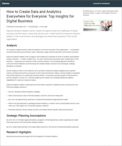 Gartner Report: How to Create Data and Analytics Everywhere for Everyone