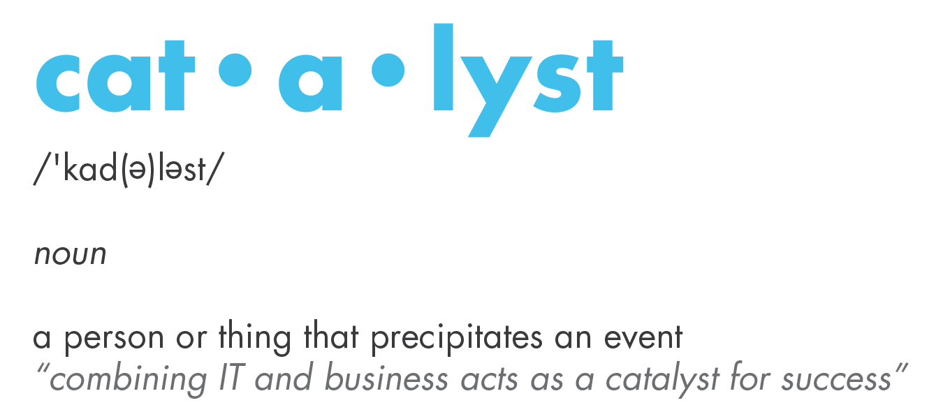 Catalyst definition is a person or thing that precipitates an event