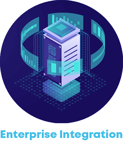 data icon and the word enterprise integration