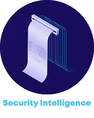 printed data and the word security intelligence